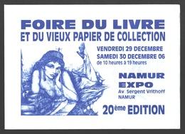 Cartophilie - Envelop / Enveloppe - Foire Du Livre Et Du Vieux Papier De Collection - Namur Expo - 20e édition - Bourses & Salons De Collections