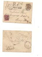 2418) 1900 Umberto 40+10c Raccomandata Reggio Emilia Argentina - 1861-78 Vittorio Emanuele II
