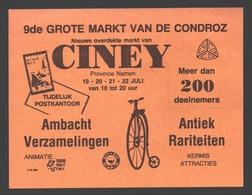 Ciney - 9e Grande Foire De Condroz - Artisanat Antiquités Collections Brocante - Publicité - Bourses & Salons De Collections