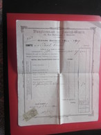 1904/05 PENSIONNAT DU SACRE CŒUR R. BARTHÉLEMY MARSEILLE Bulletin Scolaire Compte Paul Chabert Terme Externat+Fiscal Dim - Diplômes & Bulletins Scolaires