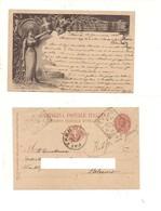 2455) Intero Postale Nozze 1897 Viaggiato Patti Tondoriquadrato - Interi Postali