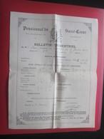 1903 PENSIONNAT DU SACRE CŒUR R. BARTHÉLEMY MARSEILLE Bulletin Scolaire Trimestriel Notes Générales Paul Chabert - Diplômes & Bulletins Scolaires