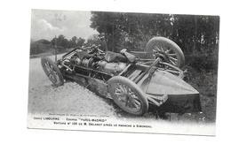"""Voiture N° 125 De M. Delaney Après Le Panache à Simoneau - Libourne - Course """"Paris-Madrid"""" - Libourne"""