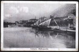 Montenegro / Kotor - Cattaro / Hafenpartie, Port, Luka / Boats / KuK Etapenpost 267 / Feldpost - Montenegro