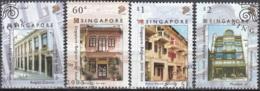Singapore 2005 Michel 1508 - 1511 O Cote (2006) 4.00 Euro Anciens Magasins Emission Avec La Belgique Cachet Rond - Singapour (1959-...)