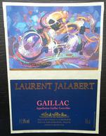ETIQUETTE CYCLISME LAURENT JALABERT GAILLAC  VIGNERONS DE RABASTENS - Cyclisme
