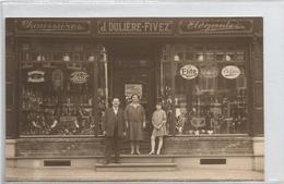 Carte Photo   Courcelles - Magasin De Chaussures J.Dulière-Fivez - Courcelles