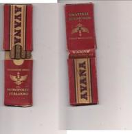 2471) AVANA Scatola Epoca Con 4 Sigaretti Monopolio Italiano £3,50 - Empty Cigar Cabinet