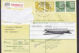 Denmark Ostkvittering FORLAGET For FAGLITTERATUR Label KØBENHAVN PTM. 1988 ÅLBORG 2x 10 Kr. & 2x 25 Kr. Wappenlöwe - Briefe U. Dokumente
