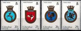 MVS-BK1-194 MINT ¤ GIBRALTAR 1984 4w In Serie ¤ MARITIEM - VOILIERS - ZEILSCHEPEN - SAILING SHIPS OVER THE WORLD - Maritiem