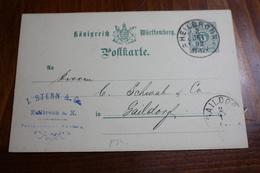 ( 138 ) GS P 34 Gelaufen  - Erhaltung Siehe Bild - Wurttemberg