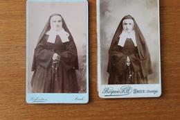 2 Cdv  1890 Bonnes Soeurs Religieuses - Photographs
