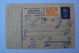 STORIA POSTALE SLOVENIA YUGOSLAVIA JUGOSLAVIA CARTOLINA POSTALE CON FERROVIARIO LJUBLJANA NOVA GORICA - 1945-1992 Socialist Federal Republic Of Yugoslavia