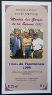 ETIQUETTE CYCLISME CUVEE SPECIALE MONTEE DES GORGES DE LA SIANNE COTE DU FRONTONNAIS 1996 - Cyclisme