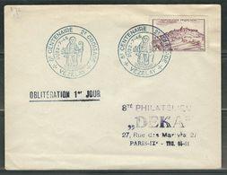 FRANCE 1946 Vezelay Obl. S/enveloppe FDC - FDC