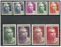 "FR YT 725 à 733 "" Marianne De Gandon "" 1945-47 Neuf** - 1945-54 Marianne De Gandon"