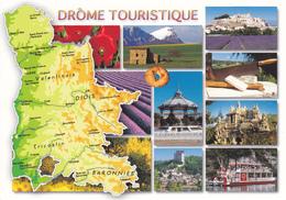 26 DROME - CARTE GEOGRAPHIQUE AVEC MULTIVUES - Maps