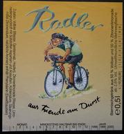 ETIQUETTE CYCLISME RADLER - Bière
