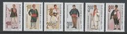 SERIE NEUVE DE BULGARIE - COSTUMES FOLKLORIQUES MASCULINS N° Y&T 3549 A 3554 - Costumes