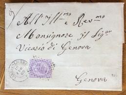 REGNO V.E.II  60 C. ISOLATO SU LETTERA COMPLETRA DI TESTO DA VARESE-LIGURE A GENOVA IN DATA 10/7/69 - 4. 1944-45 Social Republic