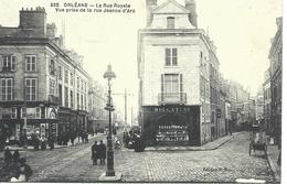 DPT 45 ORLEANS La Rue Royale Vue Prise De La Rue Jeanne D'Arc CPA TBE - Orleans