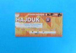HNK HAJDUK V HNSK MOSLAVINA - 2009. Croatia Football Cup * Football Match Ticket Fussball Foot Billet Calcio Biglietto - Match Tickets