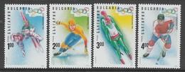 SERIE NEUVE DE BULGARIE - JEUX OLYMPIQUES DE LILLEHAMMER N° Y&T 3537 A 3540 - Winter 1994: Lillehammer
