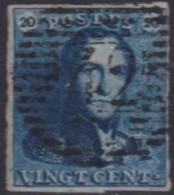 Belgie    .    OBP    .    2   ( 2 Scans )  .       O       .      Gebruikt .   /   .  Oblitéré - 1849 Epaulettes