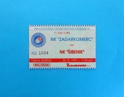 NK ZADAR V NK SIBENIK - 1997. Croatia Premier League Football Match Ticket Fussball Foot Billet Calcio Biglietto Soccer - Match Tickets
