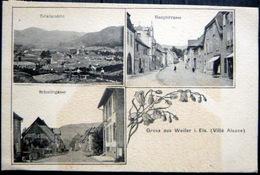 67 WEILER VILLE   GRUSS VUES MULTIPLES VOYAGE EN 1907 - Frankreich