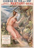 France Travel Postcard Martigny Les Bains Vosges 1899 - Reproduction - Publicité