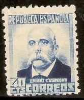 ESPAÑA Edifil 660* Mh  40 Céntimos Azul  Personajes   1931/32   NL1046 - 1931-50 Neufs