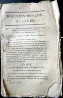 DROIT CODE CRIMINEL NOUVELLE EDITION DU CODE CRIMINEL DE 1816 ANNULANT LE CODE NAPOLEON DE 1804 - Décrets & Lois