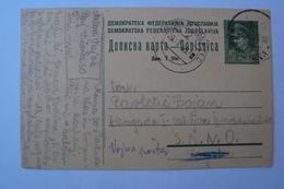 STORIA POSTALE SLOVENIA YUGOSLAVIA JUGOSLAVIA CARTOLINA VOJNA POSTA DIRETTA A MILITARE PARTIGIANO OCCUPAZIONE TITO - 1945-1992 Socialist Federal Republic Of Yugoslavia