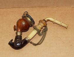 Ancienne Pipe Autrichienne A Décor De Vache - Pipes & Accessoires