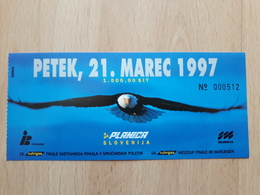 PLANICA SLOVENIA SKII, SKII YUMP 1997 WELTCUP FINALE IM SKIFLIEGEN, FINALE SVETOVNEGA  ULAZNICA,  MATCH TICKETS, RRARE - Match Tickets