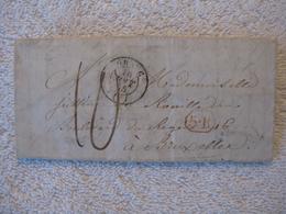 Préphilatélie – Révolution Française – Auge Calvados Et Belgique – Pauline Durey De Nouinville - 1845 - Collector - 1830-1849 (Belgique Indépendante)
