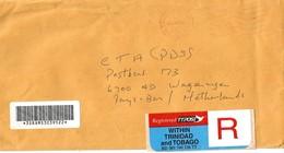 Trinidad & Tobago 2002 Port Of Spain Unfranked Postage Paid Official Registered Cover - Trindad & Tobago (1962-...)