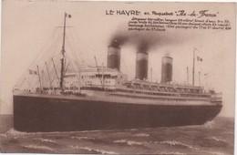 """Paquebot """"Ile De France"""" / Compagnie Générale Transatlantique/ 1927    MAR54 - Passagiersschepen"""