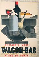 Railway Postcard Restaurez-Vous Au Wagon-Bar 1932 - Reproduction - Publicidad