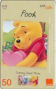 Thailand  Phonecard Orange - Disney Winnie The Pooh - Disney