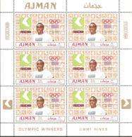 Ajman 1969 Mi# 448-453 A Kleinbogen (6) ** MNH - Summer Olympics, Mexico / Gold Medallists - Sommer 1968: Mexico