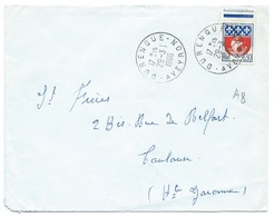 ENVELOPPE/ BLASON PARIS / DURENQUE AVEYRON 1966 - 1961-....
