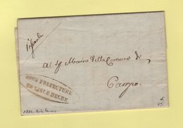 Sous Prefecture De L Isle D'Elbe - 1814 - Porto Ferraio - Departement Conquis - Marcofilie (Brieven)