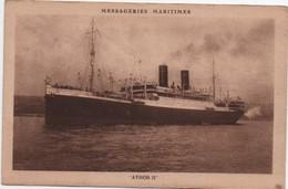 """Paquebot """"Athos II """" / Messageries Maritimes/ 1926    MAR55 - Passagiersschepen"""