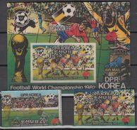 Football / Soccer / Fussball - WM 1982:   Korea  2 W + Bl **, 3D - Copa Mundial