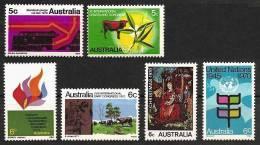 AUSTRALIA 1970 - Various Stamps Year 1970 6v - MNH **cv ±€1,40 K106a - 1966-79 Elizabeth II