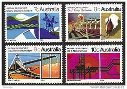 AUSTRALIA 1970 - National Development 1st Series - Mi 446-49 ** MNH Neuf  K104 - 1966-79 Elizabeth II