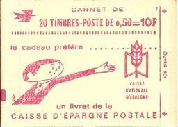 """CARNET 1664-C 2 Marianne De Béquet """"CAISSE D'EPARGNE POSTALE"""" Avec R.E. Conf. 6 Vendu OUVERT. Parfait état Bas Prix. - Usage Courant"""