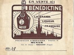 Facturette 1922 / 88 MIRECOURT / Jaime MUNAR / Aux Produits D'Espagne / Pub Bénédictine - Alimentaire